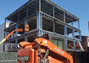 Memories of Mosteller Building fade as new steel structure erected in West Chester