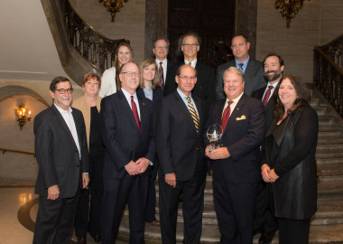 "The Delaware State Chamber of Commerce presents Bernardon with ""Superstars"" award"