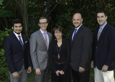 From left to right: Archit Pathak, Justin Gebhard, Myrna Villanueva, David Schlecht, Nicholas Lally (not pictured: Laura Ireson).