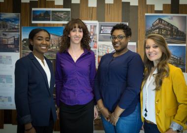 From left to right: Kelechi Chukwueke, Kristina Simcic, Lauren Wesley, Melissa Mayer-Benedetti