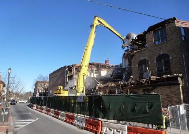 Demolition of Mosteller Building in West Chester begins