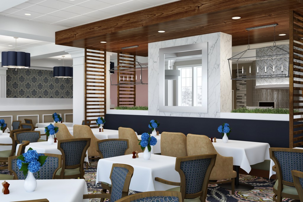 A Redesigned Way to Dine: The Riddle Village Dining Room Renovation